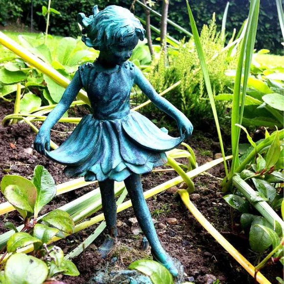 garden card, fairy statue, photo clare hocter