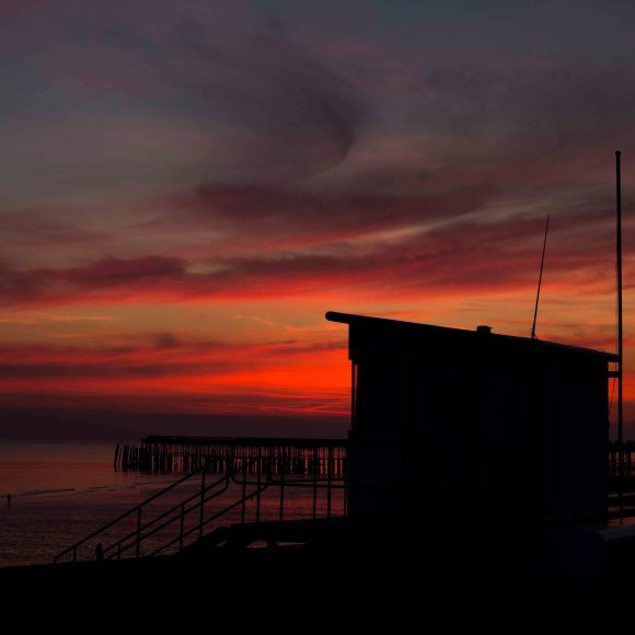 hastings sunset, photo clare hocter