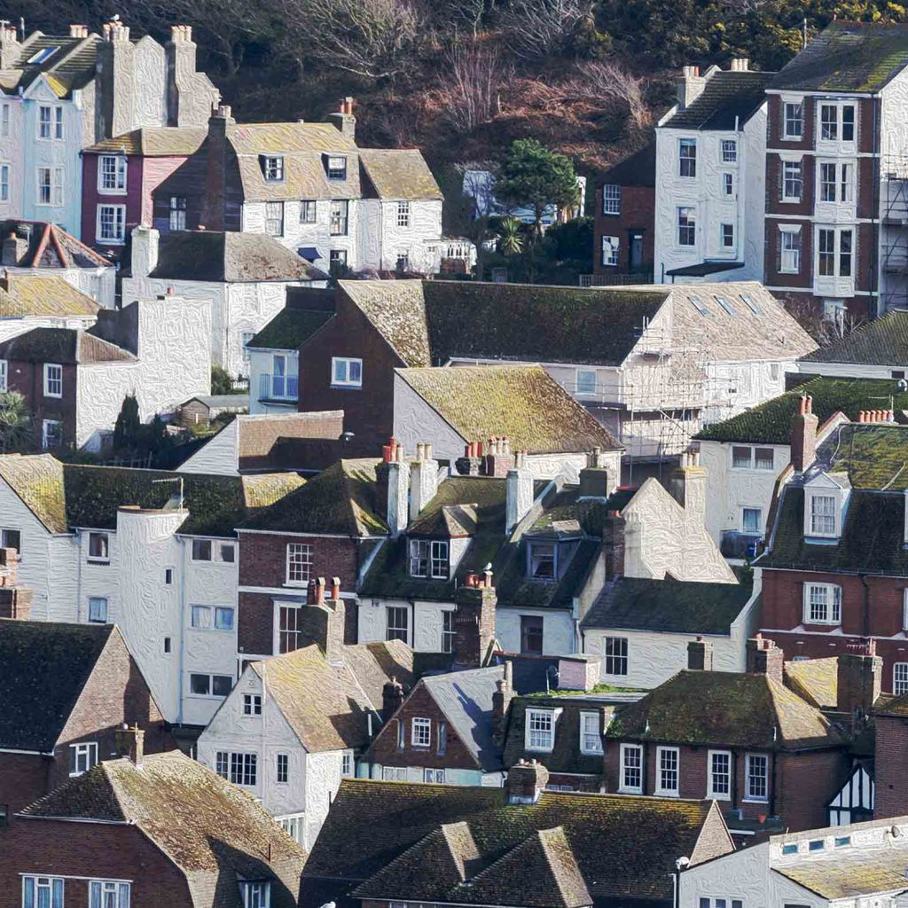 hastings houses, card for sale, photo clare hocter